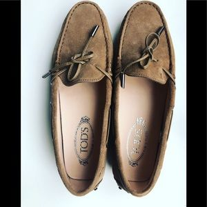 Tod's Gommino Suede Loafers.